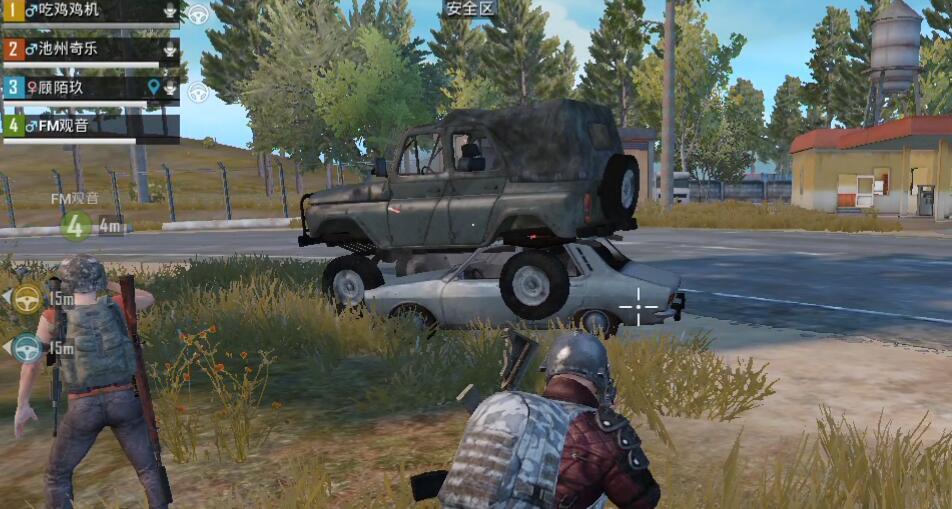 刺激战场里的车技大秀